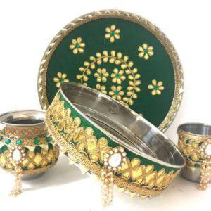 karavachauth thali sets