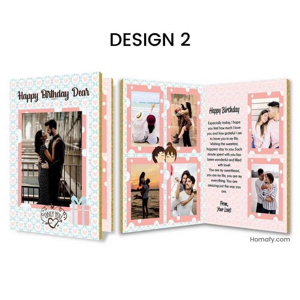 personalised audio card for birthday