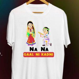 Holi Theme Text T-shirts