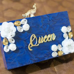 customized marble clutch