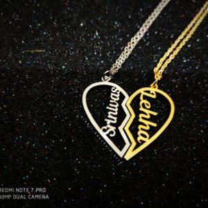 couple heart pendant