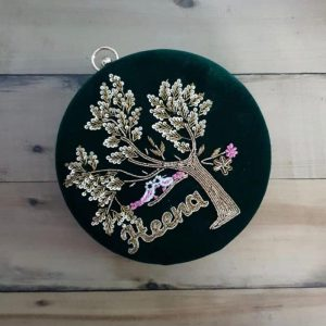 customized embroidered clutches