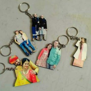 person cut out keychain