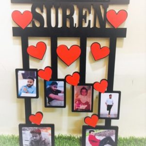 Customized Photo Frame With Falling Hearts 1