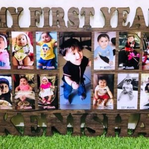 Photo frame with wooden