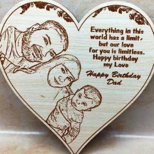 Engraved Wooden Heart Frame