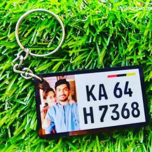 Number Plate Keychain With Picture