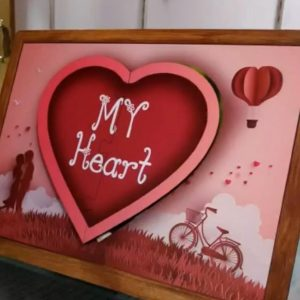 Heart Magnetic Board with photo