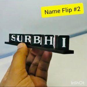 Name flip flop key ring