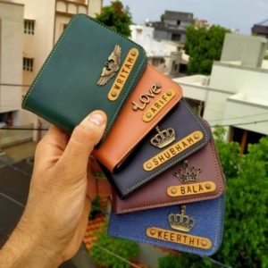 Customised leather wallets