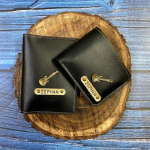 Customized Men Wallet and Passport Cover Combo