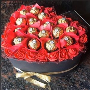 chocolate and rose bouquet