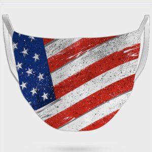 U.S Flag Print Face Mask