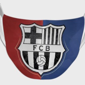 Football Club Bracelona Logo Print Face Mask