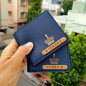 Customized Blue Men's Wallet