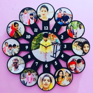 Photo wall clock wheel edition