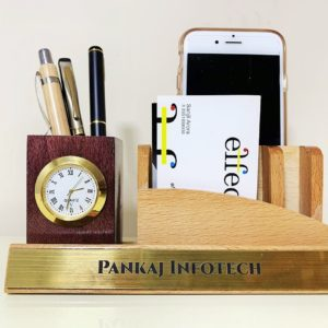 Pen holder office with firm name