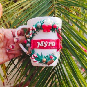 Customized Christmas Theme Mug