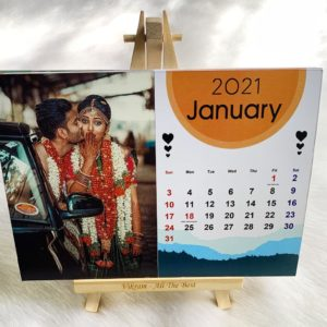 Customized 2021 Calendar With Easel Stand