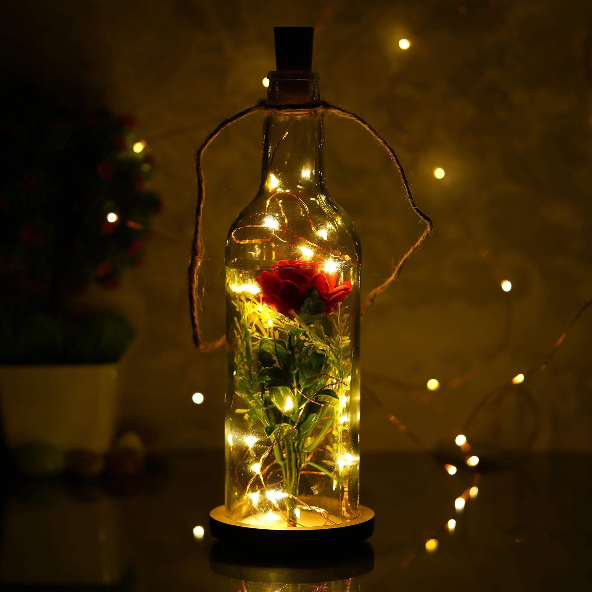 LED Rose Bottle Lamp 1