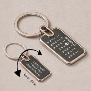 Customized Month Calendar Keychain