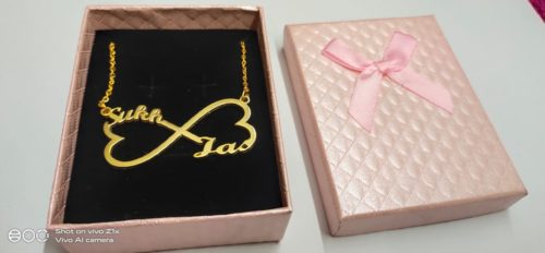 sukh and jas name pendant for couples