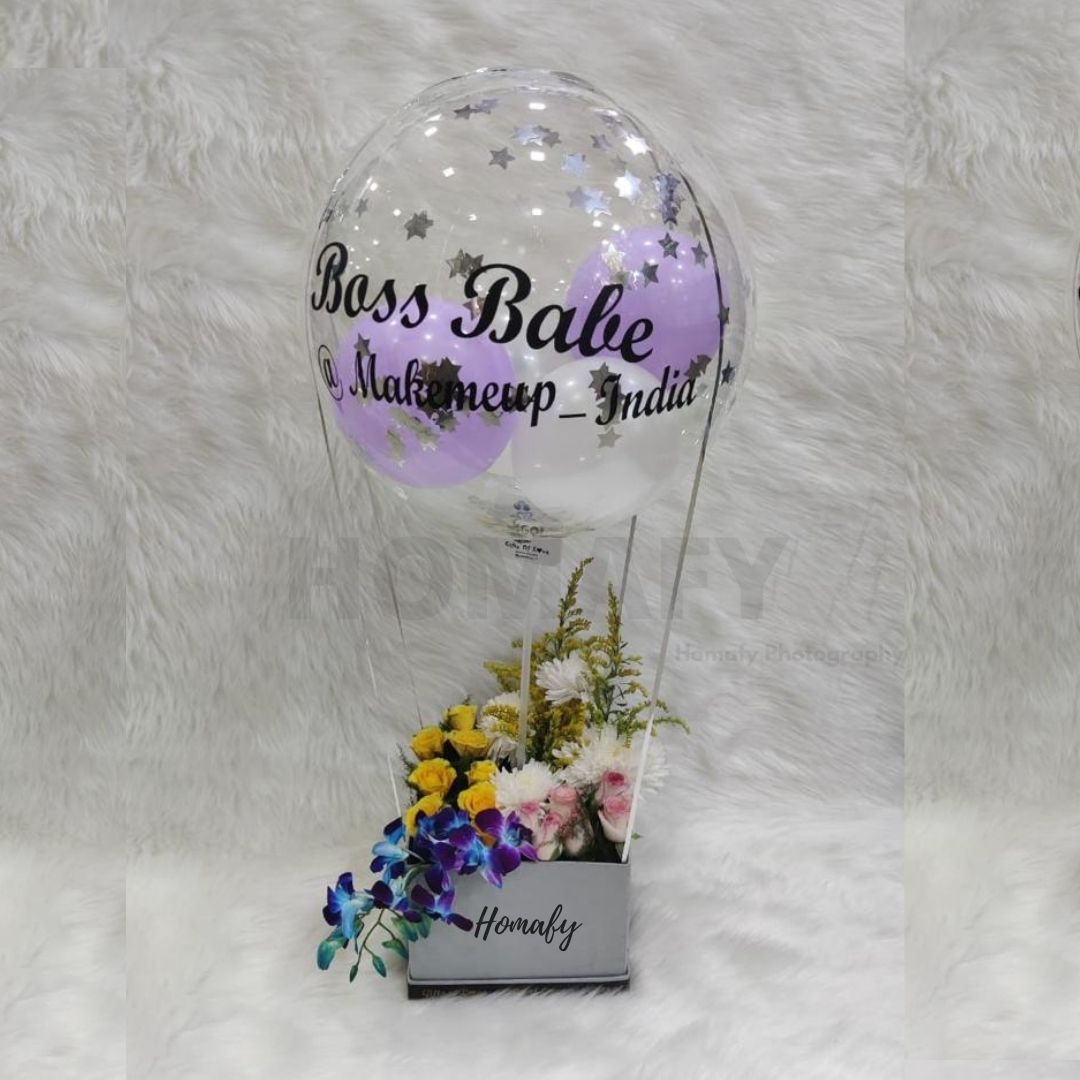 Flower bucket with Balloons