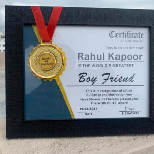 Valentine Special Certificate Frame With Medal