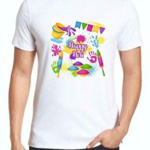 'Happy Holi' Theme T-shirts
