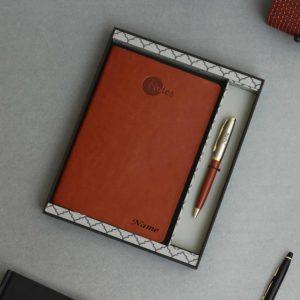 diary & pen set for corporates with company logo