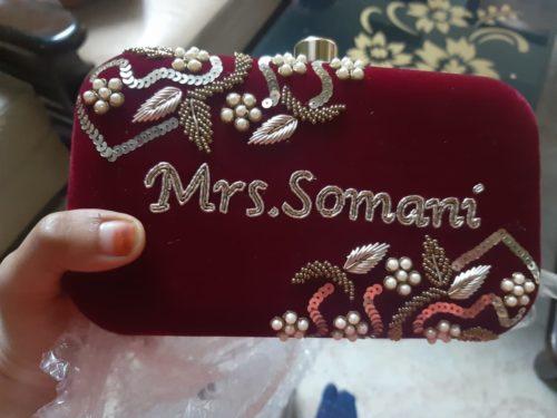 Wine Clutch Mrs. Somani