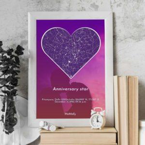Anniversary Star Map anniversary gift