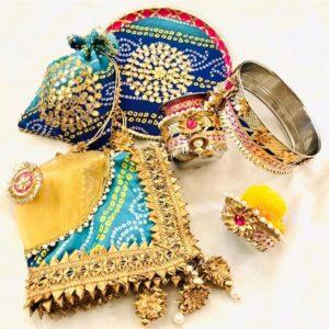 bandhani karvachauth set