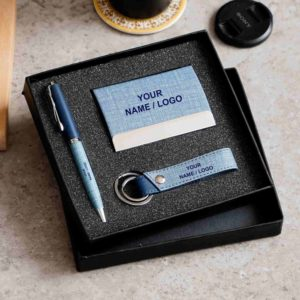Customized pen and cardholder combo